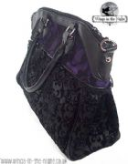 BANNED Ladies Gothic Purple and Black Bag